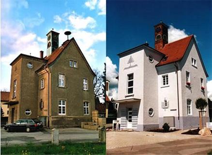 Fassade vorher nachher  Fassadenrenovierung
